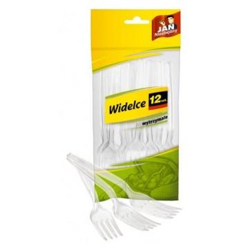 12 stk Gennemsigtig gaffel