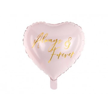"""Foil balloon Heart, 45 cm, light pink"""