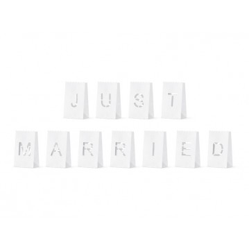 """Lanterns, candles bags - Just Married, 11.5x19x7cm (1 pkt / 11 pc.)"""