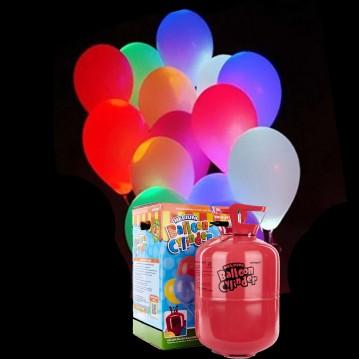 10 stk Mix led lys balloner med Helium