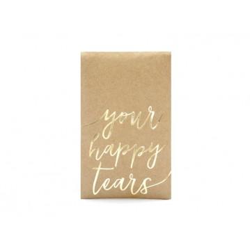 10 pk Lommetørklædeholder - your happy tears - guld
