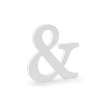 Tegn & - hvid 20,5 cm høj