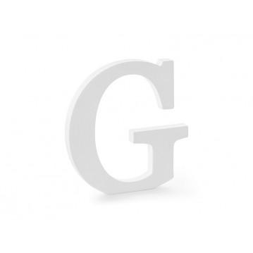Træbogstav G - hvid 20 cm høj