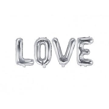 """Foil Balloon Love, 140x35cm, silver (1 pkt / 1 pc.)"""