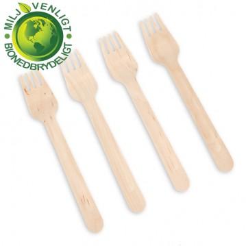 100 stk Gaffel træbestik - BIO produkt