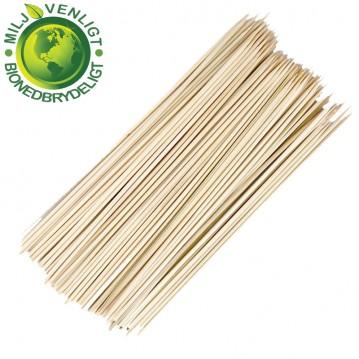 100 Stk. Grillspyd bambus 4 x 400 mm