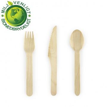 6 sæt træbestik - Woodland