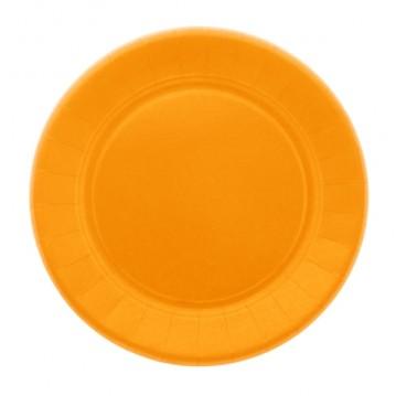 20 stk Paptallerken 23cm Orange