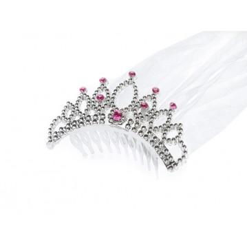 Diadem - Prinsesse krone med slør