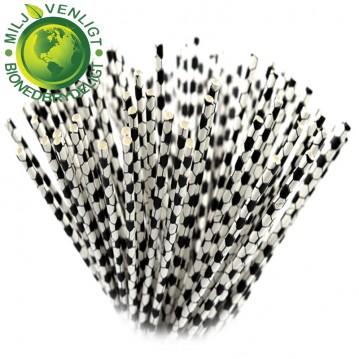10 stk Papirsugerør miljøvenligt - fodbold 6mm