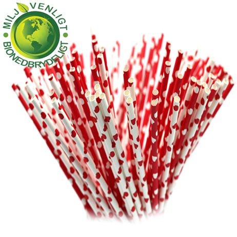 10 stk Papirsugerør miljøvenligt - Love og hjerter 6mm