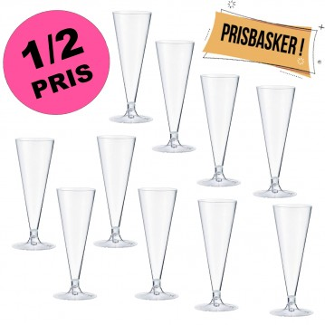 10 stk. Champagneglas 120ml