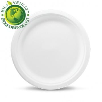50 stk Miljøtallerken 23cm økologiske