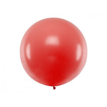 1 stk Kæmpe rød ballon - 1 meter