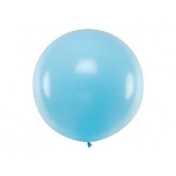 1 stk Kæmpe pastel lyseblå ballon - 1 meter