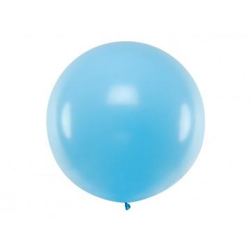 1 stk Kæmpe himmelblå ballon - 1 meter