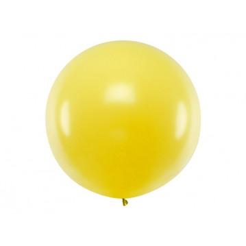 1 stk Kæmpe gul ballon - 1 meter