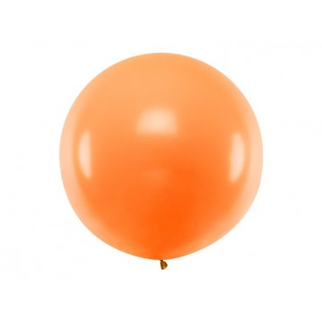 1 stk Kæmpe orange ballon - 1 meter