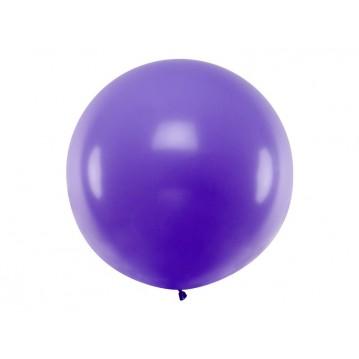 1 stk Kæmpe lilla ballon - 1 meter