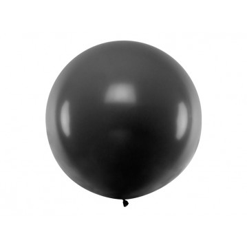 1 stk Kæmpe sort ballon - 1 meter