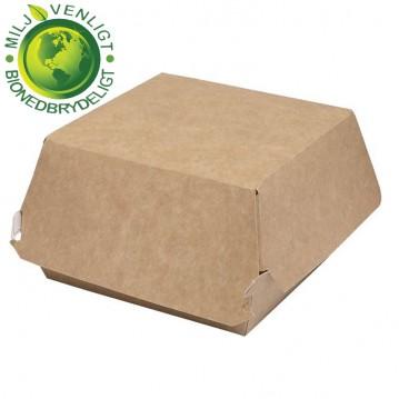 100 stk. Miljøvenlig Burgerbokse XXL 145x145x80mm