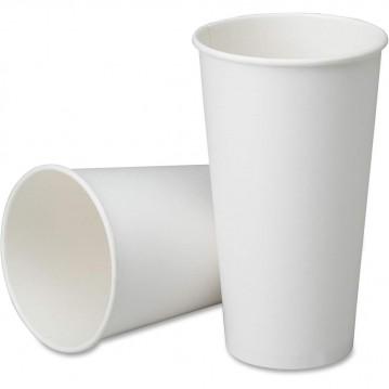 50 stk Hvide bæger til varme drikke, 480ml