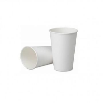 50 stk Hvide bæger til varme drikke, 100ml