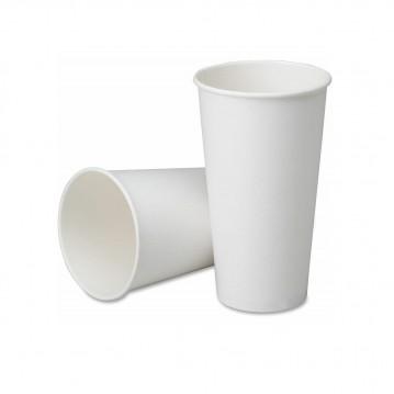 50 stk Hvide bæger til varme drikke, 250ml