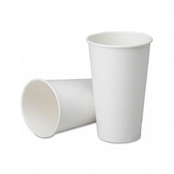 50 stk Hvide bæger til varme drikke, 300ml