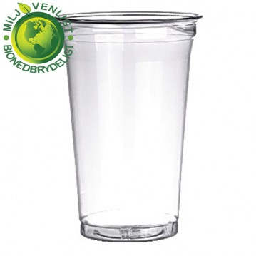 50 stk Bionedbrydelige - Ølglas 40cl/57,5cl blød plast