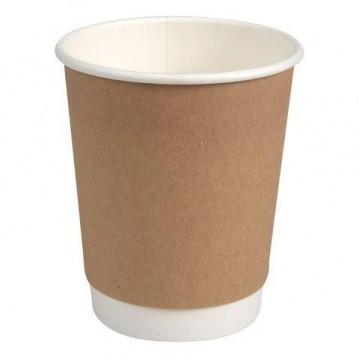 25 stk Kaffebæger 240ml - Dobbelt væg