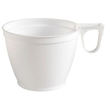 50 stk Kaffebægre hvid med hank