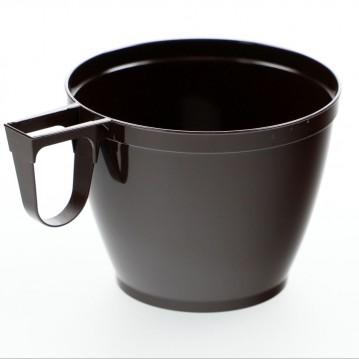 50 stk Kaffebægre brun med hank - 150ml