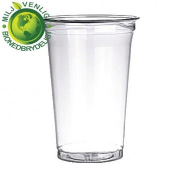 50 stk Bionedbrydelige - Ølglas 30cl/40cl blød plast