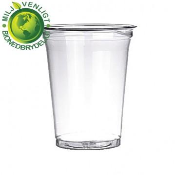 50 stk Bionedbrydelige - Ølglas 20cl/25cl blød plast