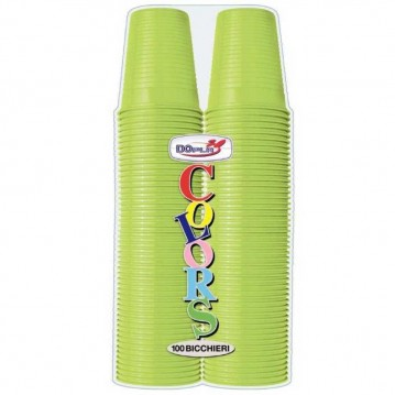 100 stk Bæger Limegrøn plastglas 20cl