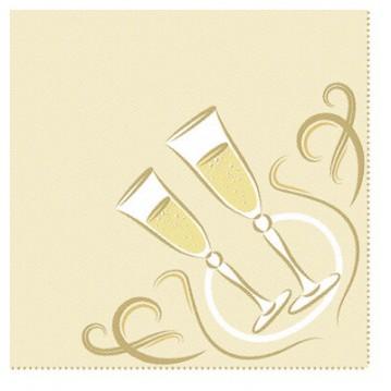 20 stk. Festlige øjeblikke - guld middagsservietter