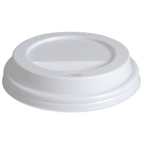 100 stk Drikkelåg - Ø90mm - Hvid