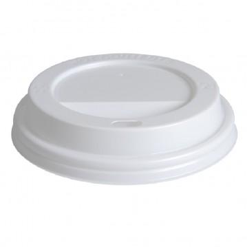 100 stk Drikkelåg - Ø85mm - Hvid