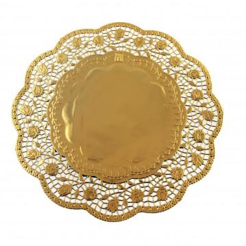 100 stk Kagepapir guld 33cm