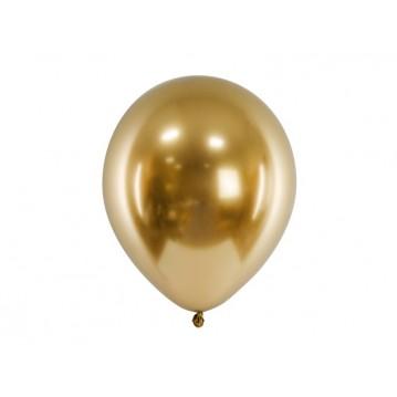 "50 stk. Chrome latex balloner - Guld 12"""