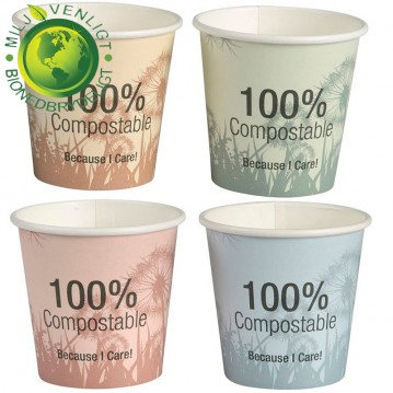 50 stk Bio komposterbar Kaffebæger 110ml
