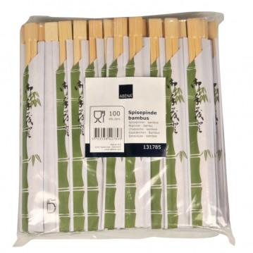 100 sæt Kinesiske bambus spisepinde - 2stk/pakke 21cm