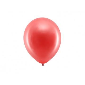 "100 stk Metallic rød balloner - str 9"""
