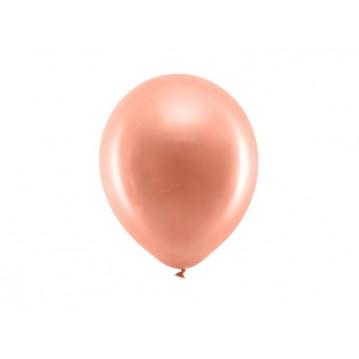 "100 stk Perle rose guld balloner - str 9"""