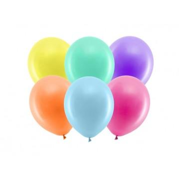 """100 stk Standard mix farvet balloner - str 9"""""""