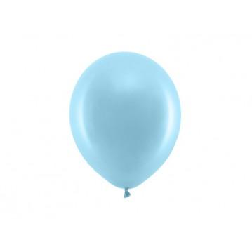 """100 stk Standard lyseblå balloner - str 9"""""""