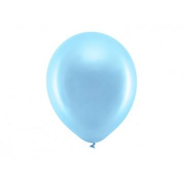 """100 stk Metallic blå balloner - str 12"""""""
