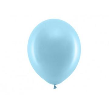 """100 stk Standard lyseblå balloner - str 12"""""""