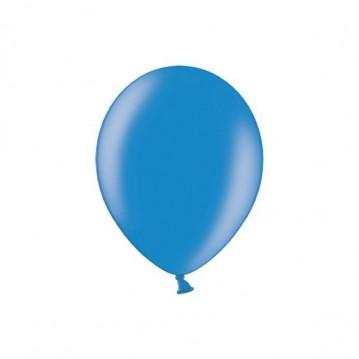 """100 stk Metallic blå balloner - str 5"""""""